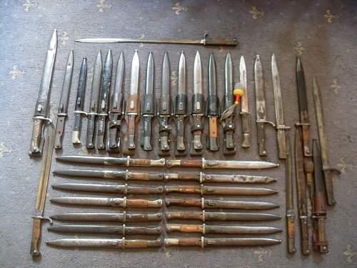 a few german bayonets
