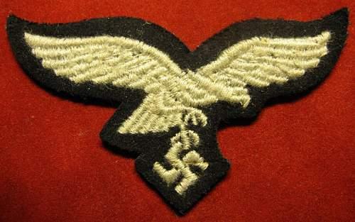 Click image for larger version.  Name:235 Luftwaffe Cap eagle 2.JPG Views:154 Size:170.6 KB ID:212599