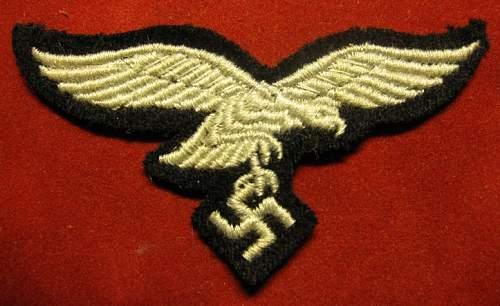 Click image for larger version.  Name:234 Luftwaffe Cap eagle 1.JPG Views:348 Size:145.2 KB ID:212600