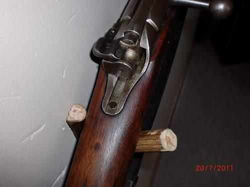 Displaying rifles
