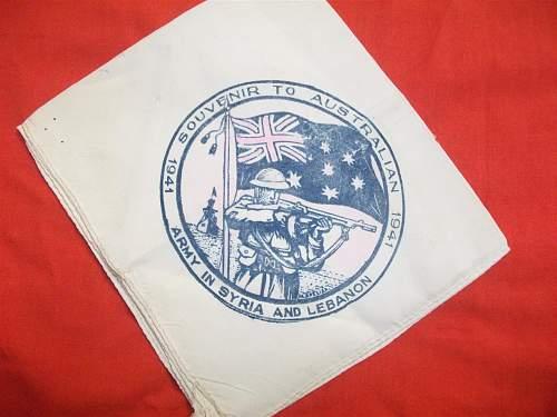 Show your WW2 Middle East souvenirs.