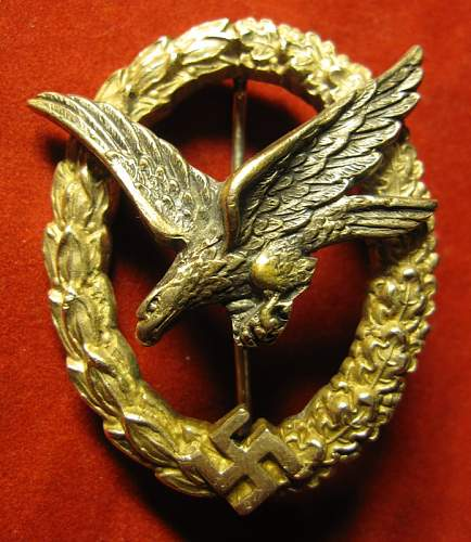 Click image for larger version.  Name:56 Air gunner and Flight Engineer Badge Juncker.JPG Views:347 Size:200.7 KB ID:260662