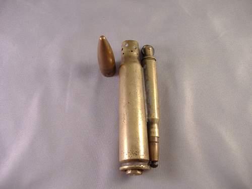 Trench art bullet lighter