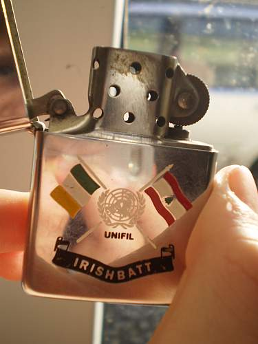 My irish Army Lighter and Button Stick
