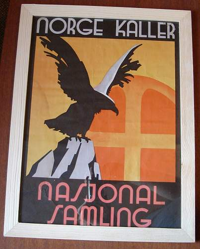 Two items from Nasjonal Samling (National Unity) - the political party of Vidkun Quisling