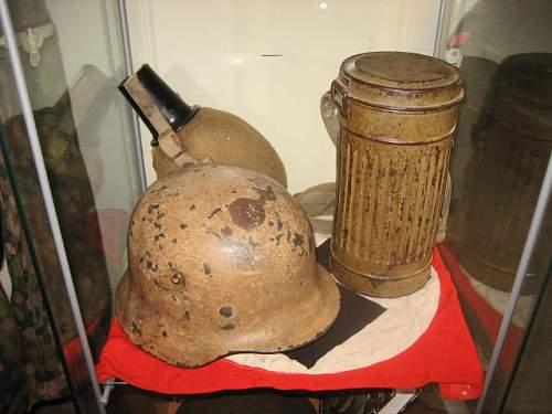 A few of my Camo Helmets on display