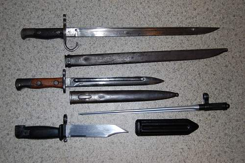 My collection of edged weapons
