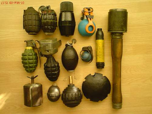 My grenade collection