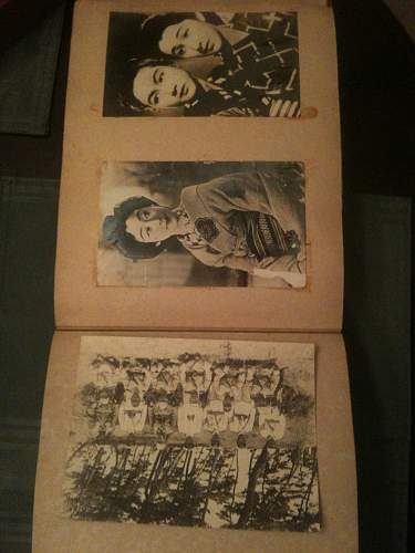 WW II Kamakazi death flag signed by Emperor along with death photo album including hand written letters.