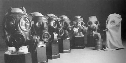 Some rare pieces from Post WW2 British Gas Mask Developement
