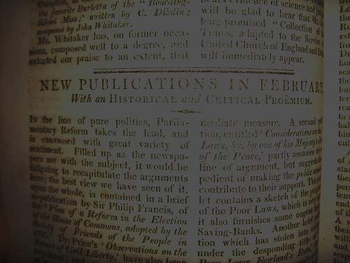 Rare collection of early 19th century periodical magazines.
