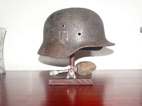 My new helmet stands