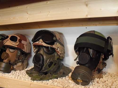 my headgear and gasmask display 2012