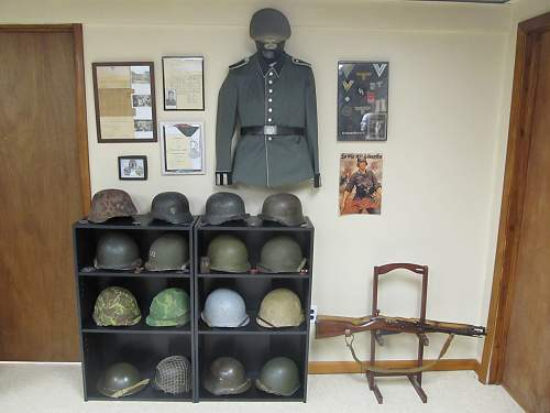 My wall o' helmets/room display