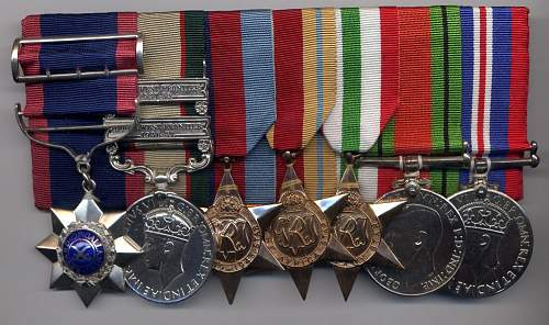 WWII Indian Army medal groups