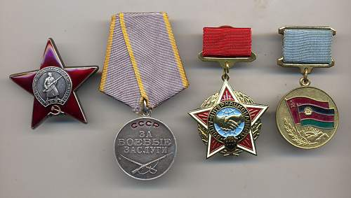 Some of my Soviet medal groups