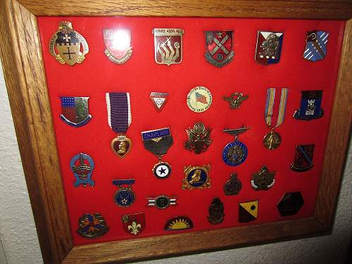 My medals, pins and small dudads collection.