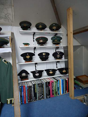 My Collection of German Army Service Caps.