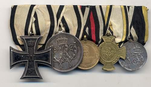 German Medal Groups