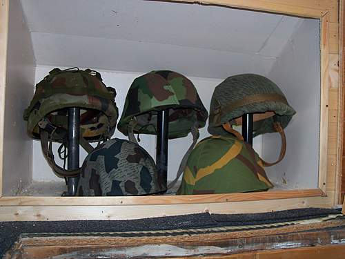 my headgear and gasmask display 2012