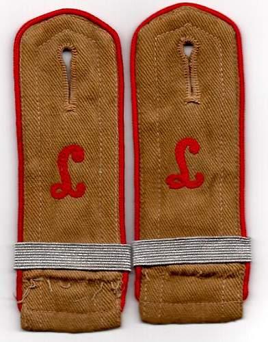 Hitlerjugend Shoulder Straps Pre 1938