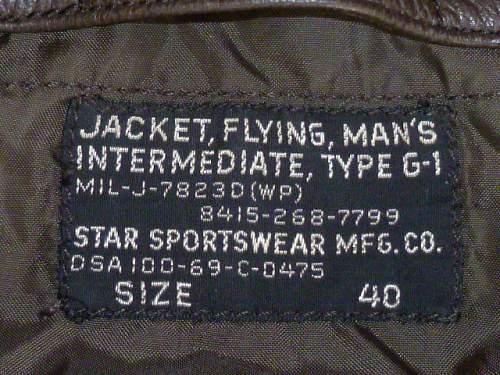 L-2B Flight Jacket (USAF) Black Tag!