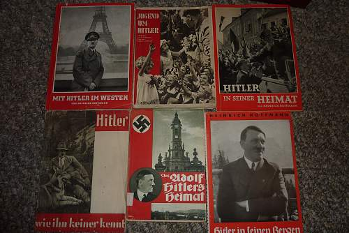 Hitler Gallery: Plaques,Medals,Postcards,Pins,Tinnies, etc.