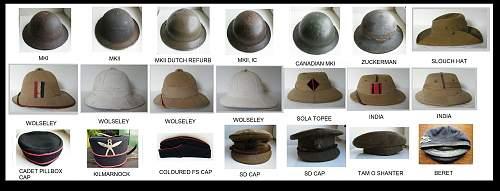 British (& commonwealth) Headgear collection