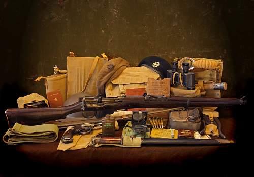 British, German and American equipment displays