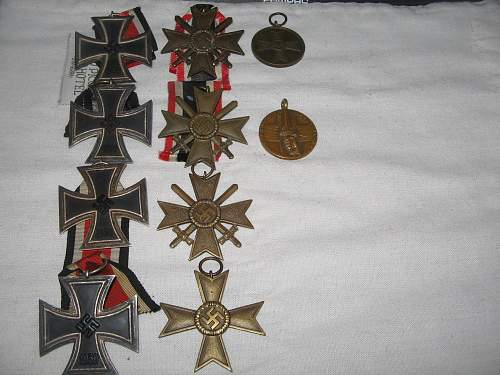 German WWII awards, badges and other items from German veteran estate sales