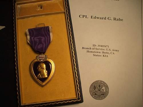 My U.S WW2 collection. Mainly POW and KIA Medal groupings
