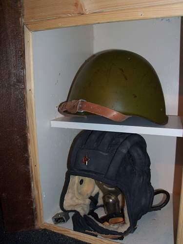 small cold war headgear display