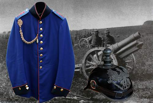 Click image for larger version.  Name:Montage - Field Artillary Jacket and M15 Kugel Helm.jpg Views:261 Size:210.1 KB ID:47400