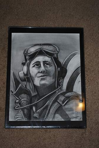 Charcoal Pilot Drawing