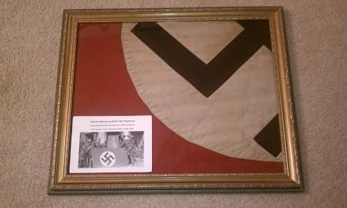 Framed my flag up