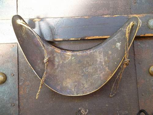 Ultra rare Napoleonic French Officers Naval Gorget Pre 1815