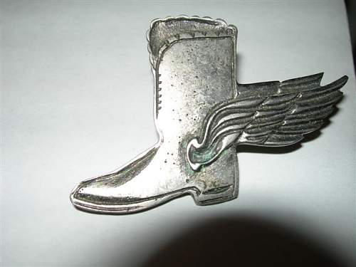 Original scarce RAF .....ORDER OF THE FLYING BOOT !!!