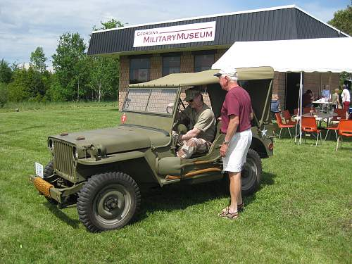 Click image for larger version.  Name:My Jeep with Phil Craig at the Georgina Military Museum.jpg Views:67 Size:232.9 KB ID:527884