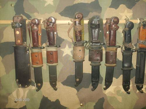 my collection of bayonets and deactivated guns