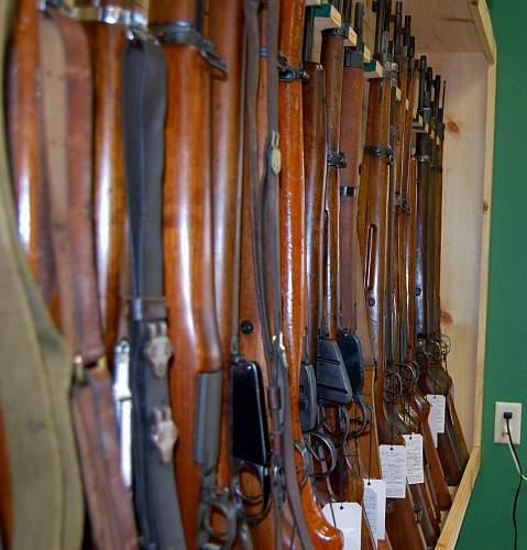 In the Gun shop..