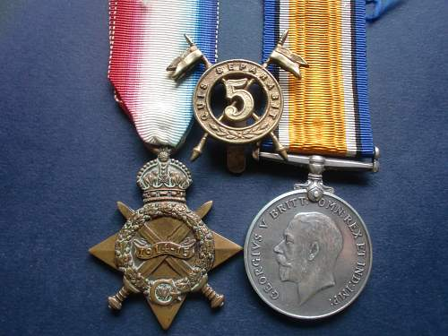 Medals to Irishmen in WW1.