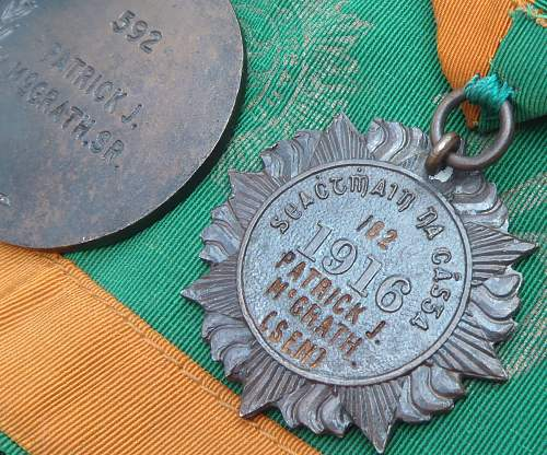 Historicaly important IRISH EASTER UPRISING MEDAL GROUP rare Officially Named GROUP to G.P.O recipiant.