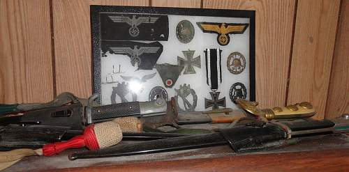 Shelf of Dress Bayonets and Other
