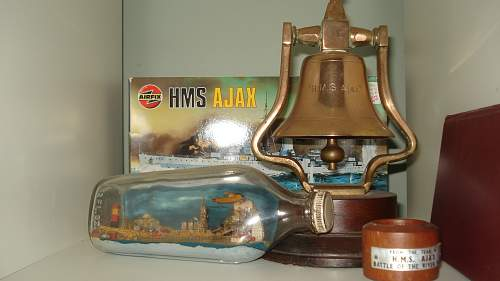 My HMS Ajax Collection Including Bell and POW Art