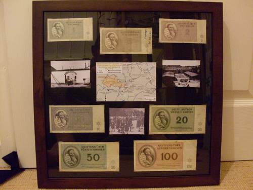 Theresienstadt Ghetto currency display