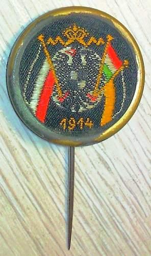 Click image for larger version.  Name:197) Patriotic Badge 1914.jpg Views:55 Size:184.4 KB ID:616810