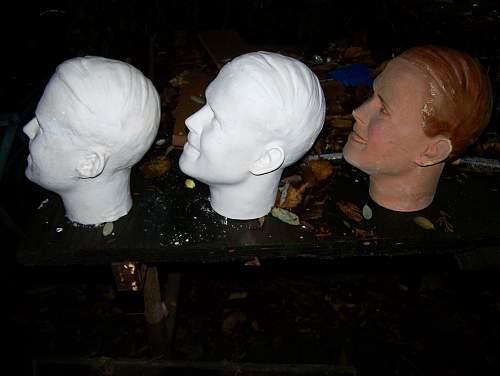 Male Mannequin / shop dummy's heads