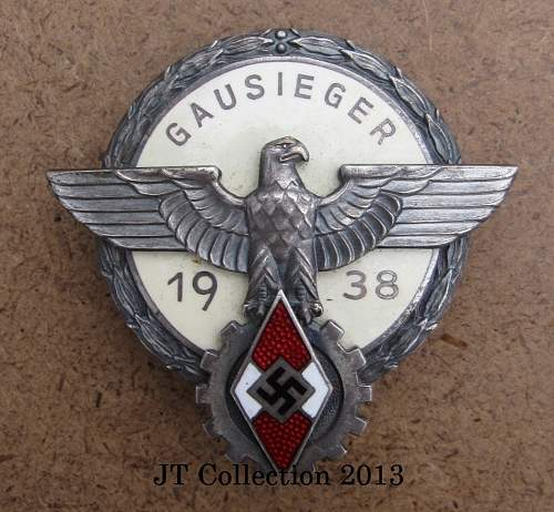 Click image for larger version.  Name:251 Gausieger Badge 1938.JPG Views:96 Size:270.3 KB ID:635335