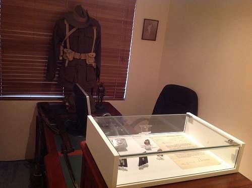 Militaria room reorganized.