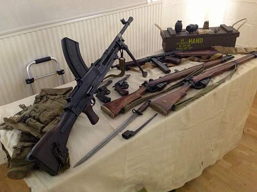 Collection on display at Local History Group